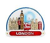 zamonji 3D Imán De Nevera Londres Reino Unido Turista Recuerdo - Big Ben, Tower Bridge, London Eye, Abadía de Westminster, Museo Británico, Palacio de Buckingham (A)