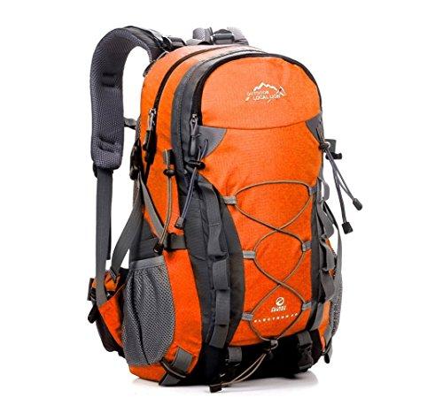 Megastyl Outdoor Local Lion Wander-Rucksack Reisetasche Klettern Freizeit Leicht Wasserabweisend Fahrrad-Tour, 53 x 33 x 23 cm, 40 Liter, FARBE:Orange (Wander-rucksack, Wasserdichte 40l)