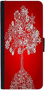Snoogg Snow Treedesigner Protective Flip Case Cover For Sony Xperia Z1 Compact