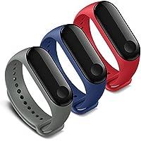 FUNKID Band per Xiaomi Mi Band 3 Polso Cinturino di Ricambio per Mi3 Braccialetto (3 Colori)