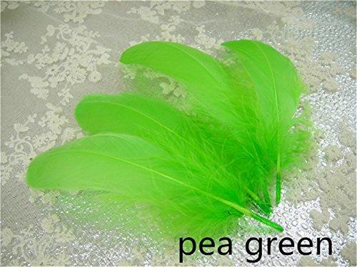 0Farben, für Hutmacherei, Fascinator, Dekoration, Lampenschirme, Kostüme 10 pieces Pea green #54 ()