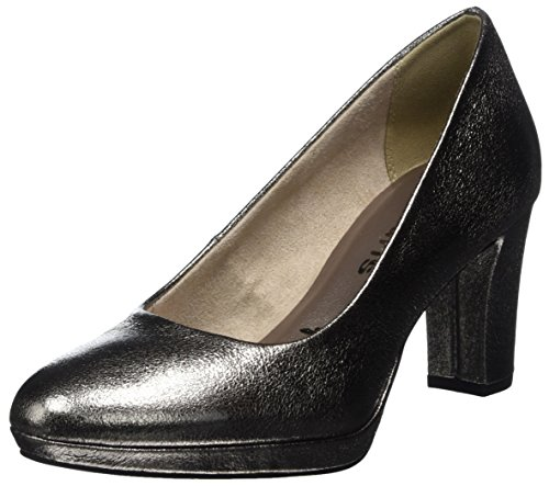 Tamaris Damen 22420 Pumps, Silber, 40 EU