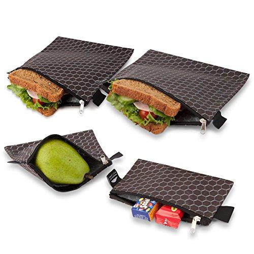 nordic-by-nature-cool-premium-black-metal-pattern-reusable-sandwich-snack-bags-designer-set-of-4-pac