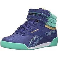Reebok Classic Girls Freestyle HI Fashion Sneakers Beacon Teal White V72763 SZ 4.5