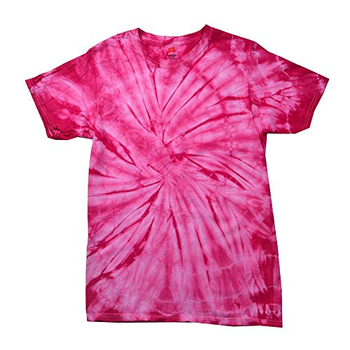 Colortone - Unisex Batik T-Shirt 'Tonal Spider' / Spider Pink, M (Pink Damen Jungen T-shirt)