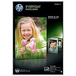 HP CR757A Papier photo 100 feuilles 200 g 10 x 15 cm Brillant
