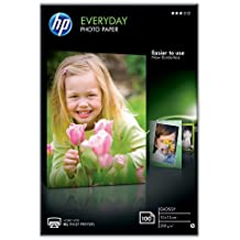 HP CR757A Papier photo 100 feuilles 200 g 10 x 15 cm Brillant