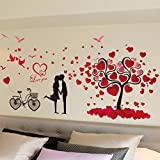 kingko® Arbre d'amour amovible Decor Environmentally Mural Stickers muraux Decal...