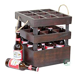 Vintiquewise(TM) Antique Style Stackable Wooden Beer Crates