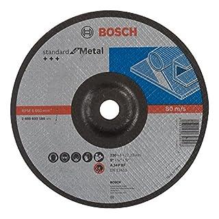 Bosch Professional Schruppscheibe gekröpft, Standard für Metal A 24 P BF, 230 mm, 22,23 mm, 6 mm, 2608603184