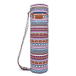 Elenture Full-Zip Exercise Yoga Mat Carry Bag with Multi-Functional Storage Pockets (Bohemian)