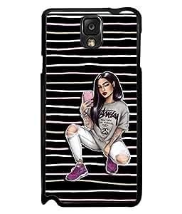 PrintVisa Designer Back Case Cover for Samsung Galaxy Note 3 :: Samsung Galaxy Note Iii :: Samsung Galaxy Note 3 N9002 :: Samsung Galaxy Note 3 N9000 N9005 ( Beauty Cute Happy Dirty Elegance Beautiful Fashion)