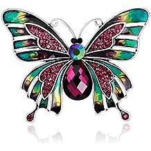 Wicemoon broche Brooch Forma de mariposa doble broches de bisuteria broches de bisuteria para ropa