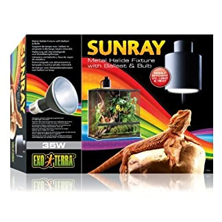 Exo Terra SunRay Reptile Metal Halide Bulb and Holder 35 Watt Uva Uvb Heat All in 1 Exo Terra SunRay Reptile Metal Halide Bulb and Holder 35 Watt Uva Uvb Heat All in 1 51jHXdKds4L