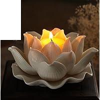 casa per le luci/ Lotus Lantern/Bianco loto foglia burro lampade