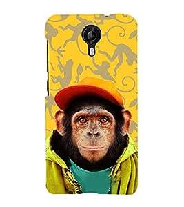 Fuson Designer Back Case Cover for Micromax CanvasNitro4G E371 (Monkey with hat theme)