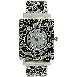 Zaza London Analogue Ladies-Girls Animal Print Plastic Bangle Style Dress Watch