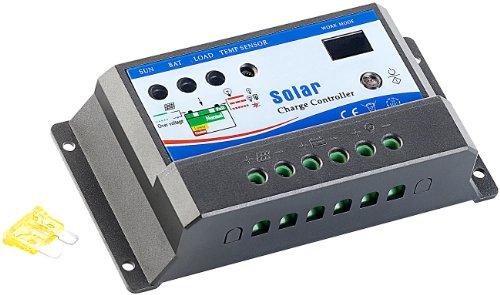 revolt Solarpanel-Controller: Solar-Laderegler für 12-V-Solarstrom-Systeme bis 10 A (Battery regulator) (Solar-panel-überspannungsschutz)