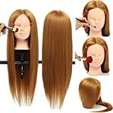 Bluelover 26 Lange Haare Training Schaufensterpuppe Kopfmodell Frisieren Make-Up Praxis Mit Klemmhalter