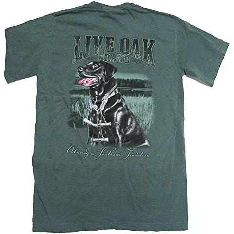 Live roble marca Lab Pato llamadas camiseta