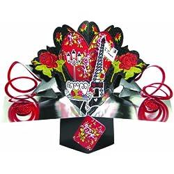 Tarjeta de felicitación de San Valentín desplegable