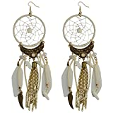 Hosaire 1 Paar Damen Ohrringe Mode Traumfänger Anhänger Schmuck Ohrringen Frauen Zubehör Ohrhänger