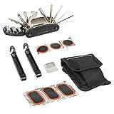Farway Werkzeug-Reparatur Fahrrad Zubehör Kit Kombination Multifunktionale Mountain-Bike Ausrüstung-Reparatur-Set für Fahrradreifen-Tool 16in 1Reparatur und Pflege von Fahrrad