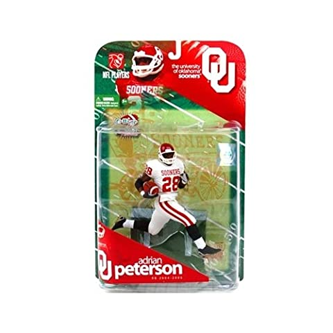 McFarlane Sportspicks: NCAA Football Series 1 Adrian Peterson (Oklahoma Sooners, White Jersey Variant) Action Figure by Unknown