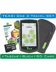 TEASI One 2 Fahrradnavi Travel Set mit Tourbuch, SD-Card und Tasche