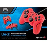 Manette filaire Rouge PS3