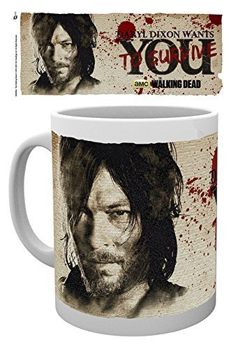 empireposter Walking Dead, The - Daryl Needs You - Keramik Tasse - Größe Ø8,5 H9,5cm