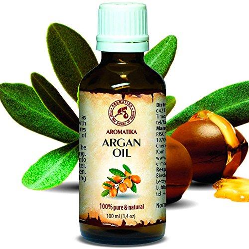 Olio di Argan 100ml - Argania Spinosa - Marocco - 100{7de16d5f55372d46e82142319416eb36b6e2a348e71ead5686e93ea99a34a552} Naturale e Puro - Olio di Base - Cura per Viso - Corpo - Capelli - Ottimo Con Olio Essenziale - Aromaterapia - Relax - Massaggi - Cosmetici