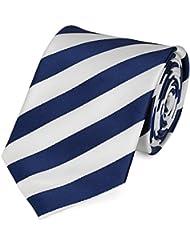 Krawatte blau weiß gestreift von Fabio Farini