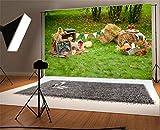 YongFoto Toile de fond de photographie 10 x 6,5 FT / 3 x 2 mCaractéristiques:1. Material: Tissu de vinyle, poids léger, transport facile et stockage.2. Couleur: Couleur vive, haute résolution et qualité et fondu pas facile.3. Seamless: Si le bord le ...