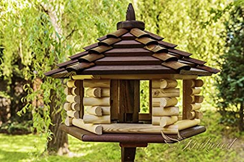 NEW Exclusive 3XL Wooden Bird Table & Bird Feeder& Feeder From Hopper For Grain With STAND