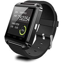 U8 Bluetooth Smartwacth con Bluetooth 3.0 para IOS Android iPhone Samsung HTC LG negro