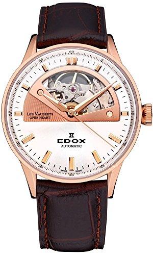 Edox Les Vauberts Open Heart Men's watches 85019-37R-AIR