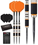 Red Dragon Amberjack 2: 21g – 90% Tungsten Darts (Steel Dartpfeile) mit Flights, Schäfte, Brieftasche & Red Dragon Checkout Card
