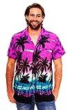 Funky Camisa Hawaiana, Beach, púrpura, XXL