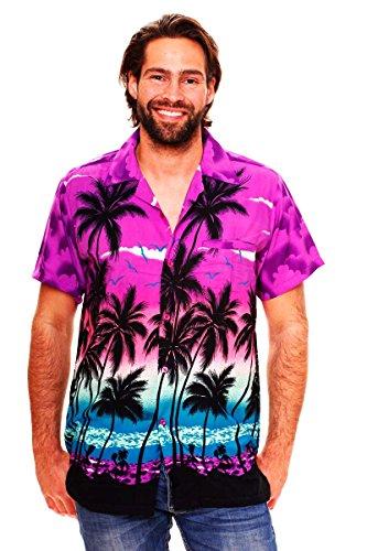 Funky Camisa Hawaiana, Beach, púrpura, 3XL