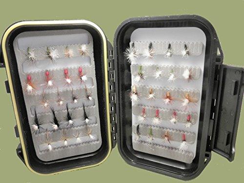 Troutflies UK Klinkhammer & Parachute Forellen-Fliegen, unterschiedliche Typen & Größen, Fliegenfischen, 40-teilig -