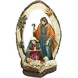 Bakaji Presepe Sacra Famiglia Con Arco In Resina Altezza 21,5cm Decorazioni Natalizie