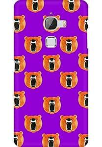 AMEZ designer printed 3d premium high quality back case cover for Letv Le Max (Bear Hipster Doodle Dark Violet)