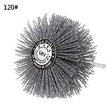 Brosse métallique à ébavurer en crin de cheval abrasif en carbure de silicium pour polissage et meulage