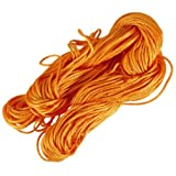 1mm Nylon Chinese Knot Cord Beading Macrame Rattail Bracelet Thread String Rope,Orange