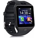 NALMAK Piqancy Portable Bluetooth with Camera and SIM Card Support Smartwatch for Redmi 4G, Android Smartphone and iOS Devise (Black)