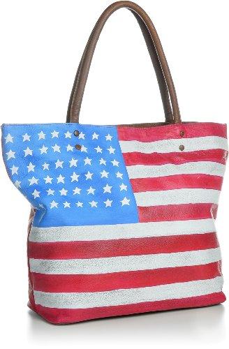 MASQUENADA, Cntmp, Damen Handtaschen, Wendetaschen, Shopper, Trend-Bags, Henkeltaschen, Leder, Umhängetaschen, Clutches, 4 in 1, Taschen, 43x33x13 cm (B x H x T) Modell USA