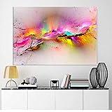 ELEVENFF Quadro su Tela Nuvole Colorate Paesaggi Ad Olio Immagini per Pareti per Soggiorno Decorazioni per La Casa-40 * 60,Frame