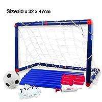 Georgie Porgy Children Football Goal Post Net With Ball Pump Indoor Outdoor Soccer Sport Games Goal Mini Training Practice Set Kids Toy(Size:60 x 32 x 47cm)