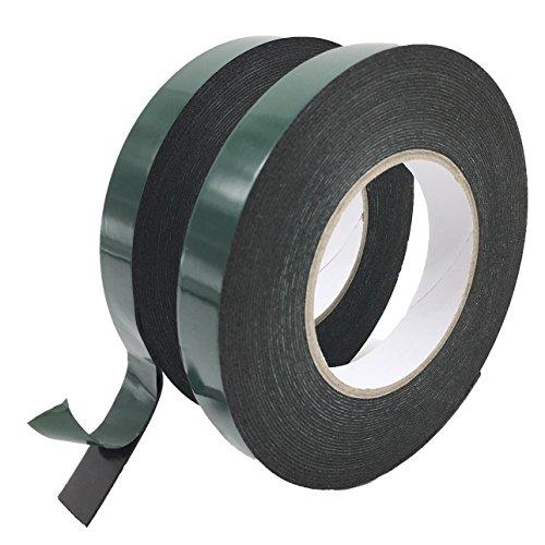 Preisvergleich Produktbild maveek Double Side Schaumstoff Klebeband,  10 m (19 mm) schwarz Montage-Klebeband 2 Rolle der Tape Nr. Teller Automotive Klasse Auto Radzierblenden Tape